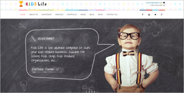 Kindergarten Website Template Free Download
