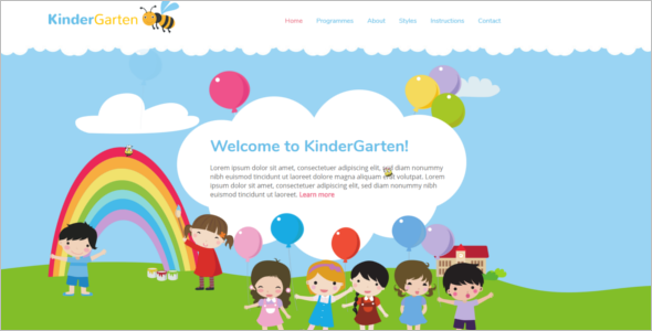 Kindergarten Website Template HTML5