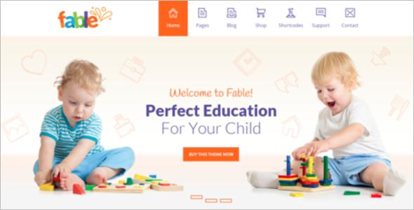 Kindergarten Website Template