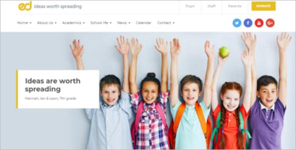 Kindergarten WordPress Website Template