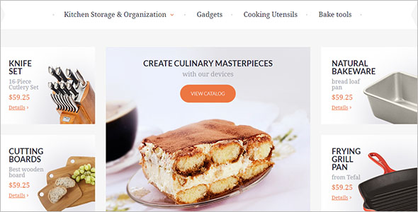 Kitchen Furniture Magento Theme