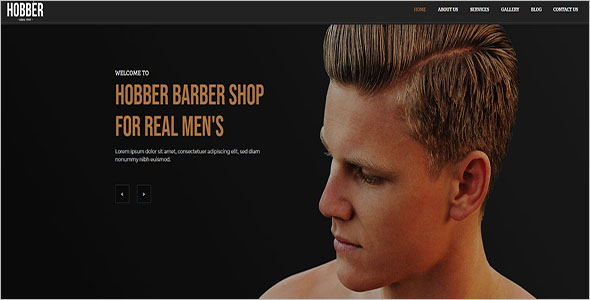 Latest Barbershop Joomla Template