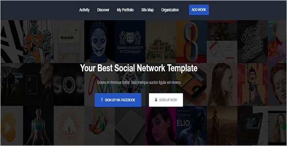 Latest Social Network Bootstrap Template