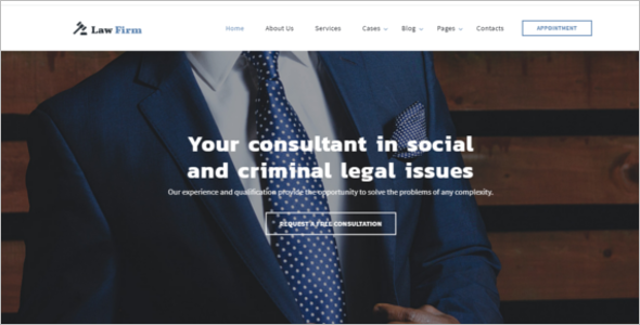 Law Company Website Template