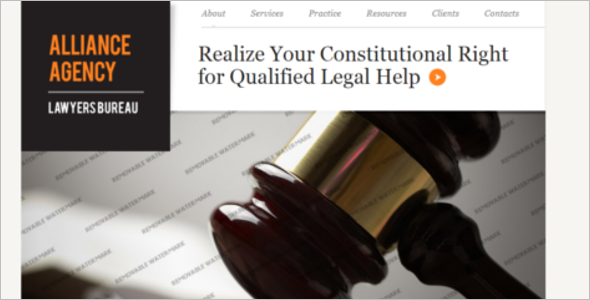 Law Firm Best Website Template