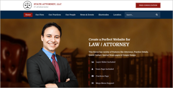 Law Firm Website Template Free Download