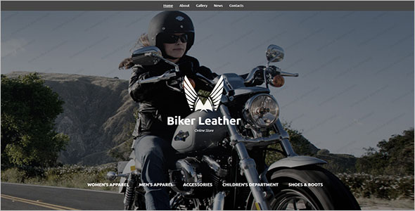 Leather Apparel Store Website Template