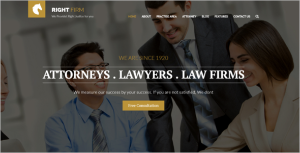 Legal Adviser Website Template