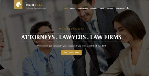 Legal Adviser Website Template