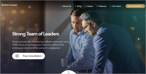 Legal Attorney Website Theme