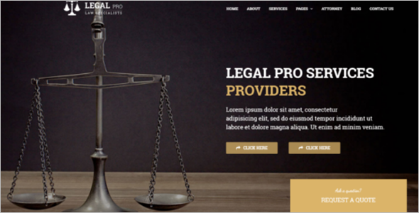 Legal Business Website Template
