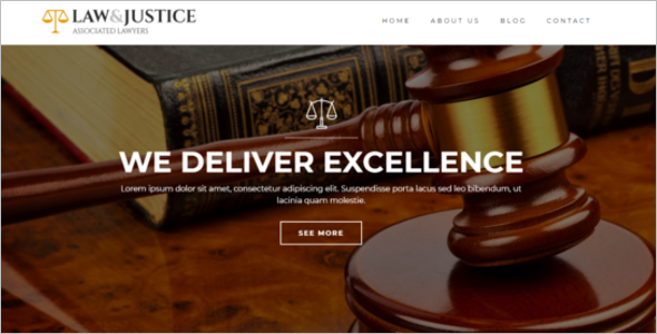 Legal Justice Website Template