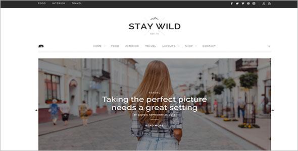 Lifestyle Blog Responsive Theme