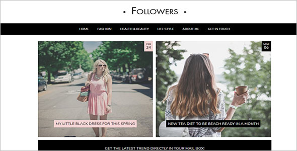 Lifestyle Blog Theme for Social Media Influencers