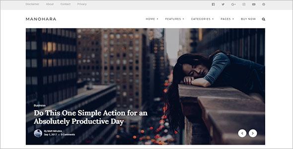Lifestyle Blog Website Theme