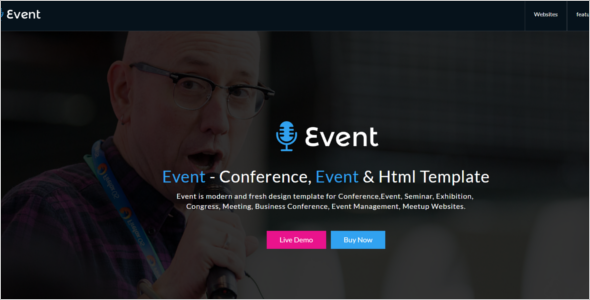 Live Event Management Website Template
