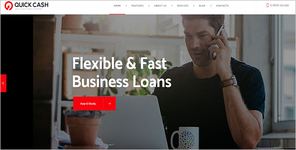 Loan Company WordPress Theme