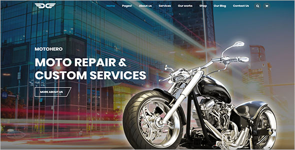 Motorcycle Service Business Theme