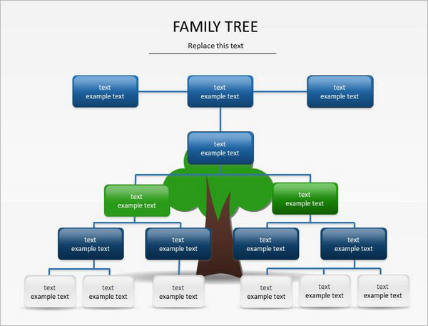 MS PowerPoint Family Tree Template 2007