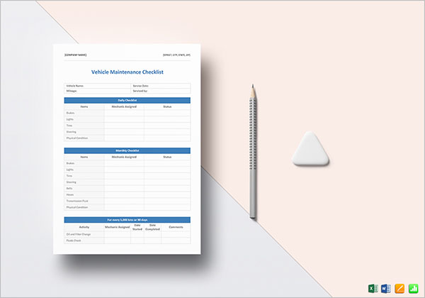 MS Word Blank Checklist Template