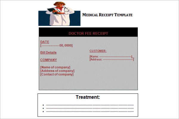 MS Word Medical Receipt Template