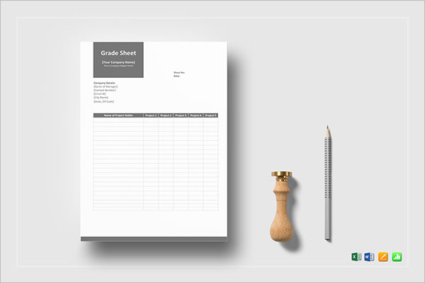 MS Word Sales Sheet Template