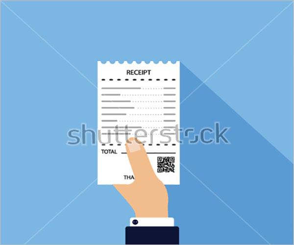 Man Holding Electronic Receipt