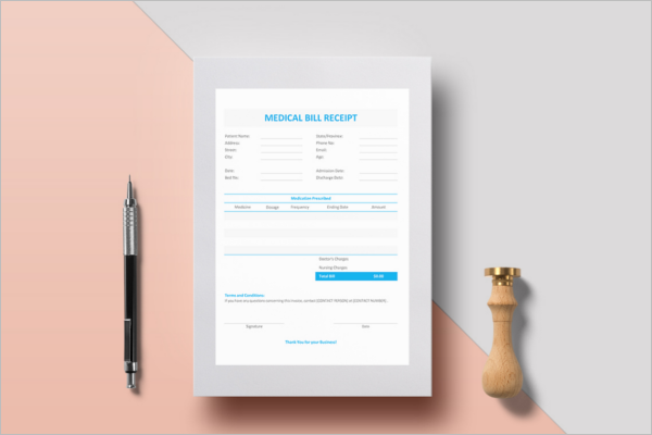 medical receipt template word