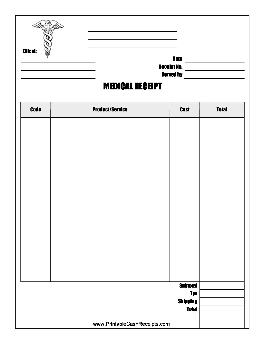 ecommerce privacy policy template - medical receipt template