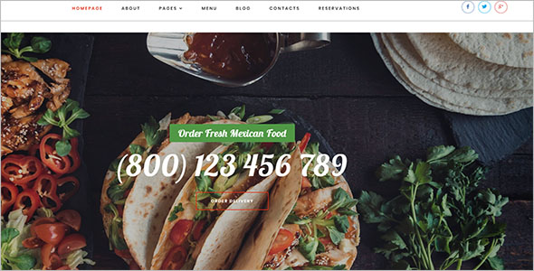 Mexican Catering Website Template