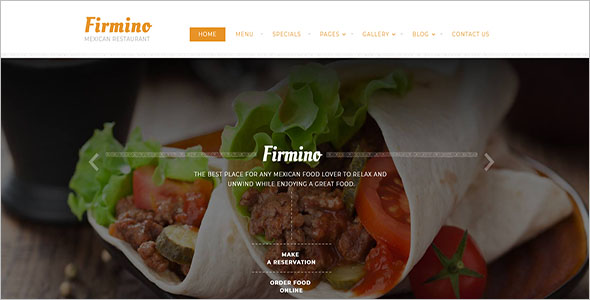 Mexican Restaurant Multipage Website Template