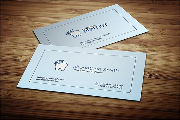 Minimal Dental Care Business Card Design