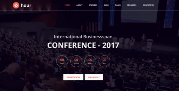 Minimal Event Management Website Theme