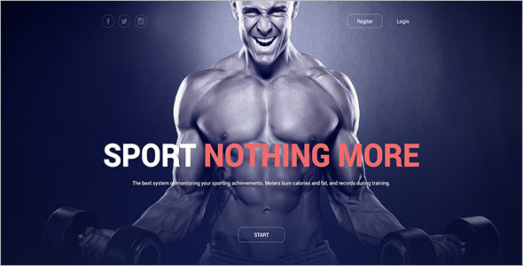 Minimal Fitness Joomla Template