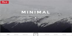 Minimal HTML5 & CCS3 WordPress Theme