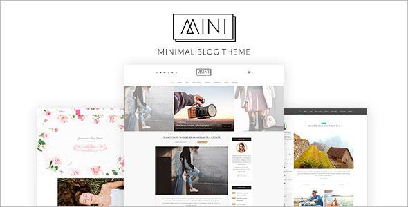 Minimal Video Blogger Template