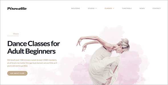 Miscellaneous Dance WordPress Theme
