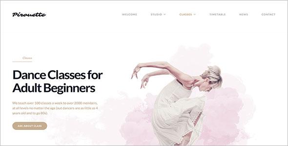 Miscellaneous Dance WordPress Theme