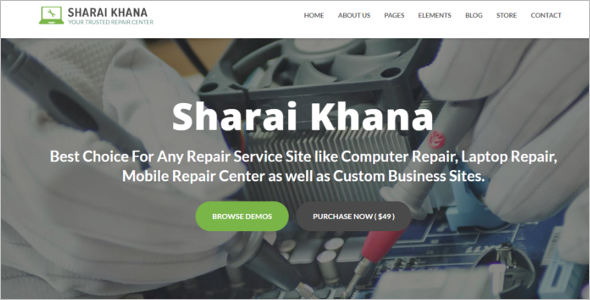 Mobile & Digital Repair Service Website Template