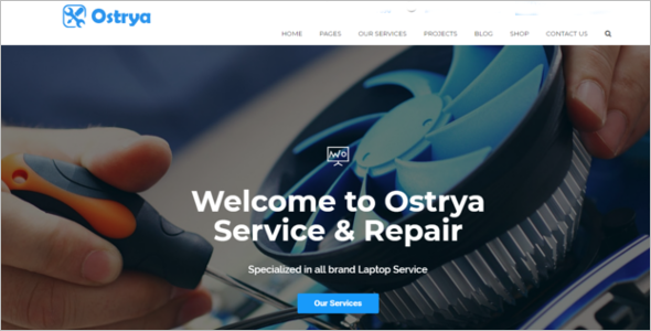 Mobile Phone Repair Service Website Template
