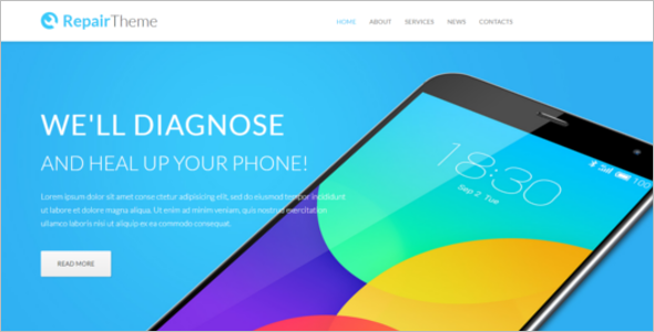 Mobile Shop Website Template
