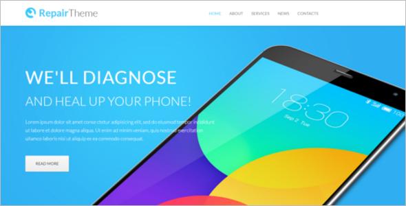 Mobile Shop Website Template