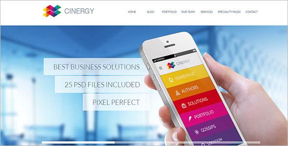 Modern Business WordPress Template