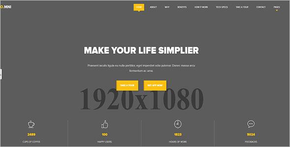 Modern Drupal App Landing Page Theme