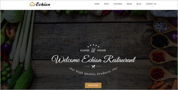 Modern Food Ordering  WordPress Theme