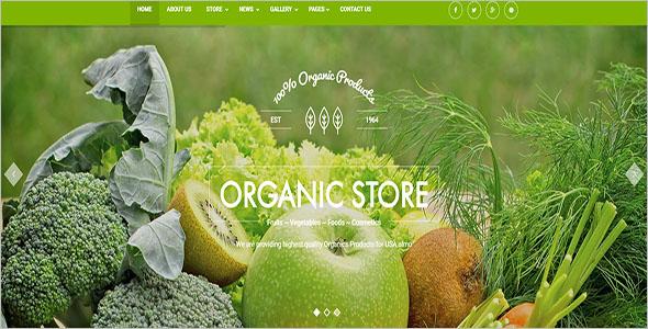 Modern Food Store Joomla Template