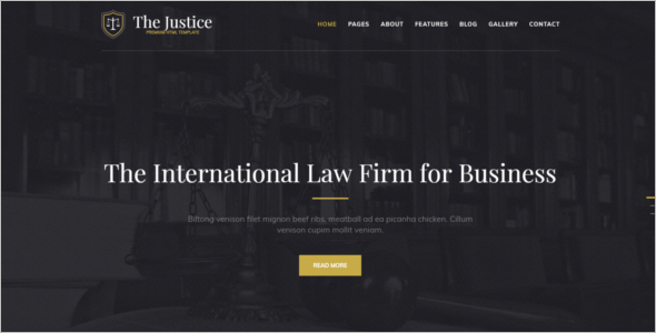 Modern Lawyer Website Template