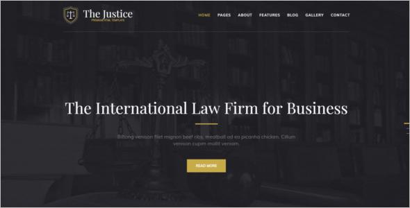 Modern Lawyer Website Template