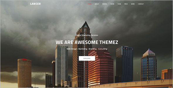 Modern Looking Static HTML Template