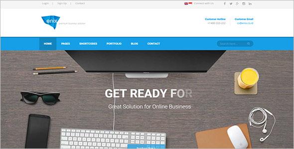 Modern Online Business WordPress Theme